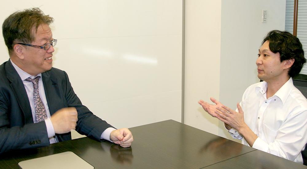 グッドワークス株式会社 代表取締役 須合憂と株式会社シンカーミクセル 代表取締役 櫻井孝志の対談インタビュー