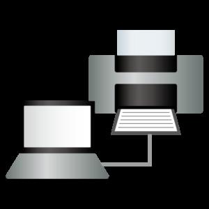 パソコンとプリンタの接続イメージ