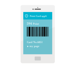 スマホのポイントカードアプリイメージ
